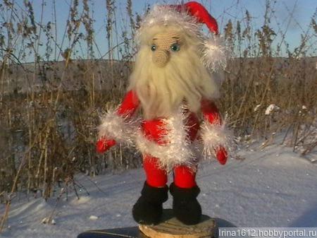 Взаная игрушка Дед Мороз ручной работы на заказ