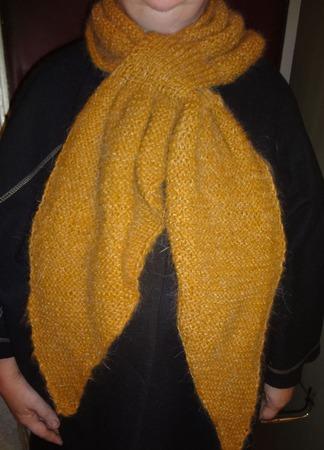 """Шарф-галстук """"Осенний"""" ручной работы на заказ"""
