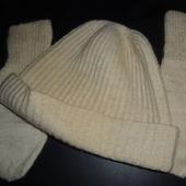 """Комплект """"Спортивная шапка и варежки"""""""