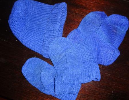 """Комплект """"Синий цвет спорта"""" ручной работы на заказ"""