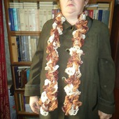 Шарфик Дантелла оттенки коричневого
