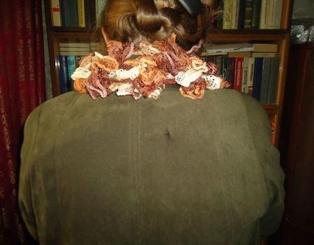 Шарфик Дантелла оттенки коричневого ручной работы на заказ