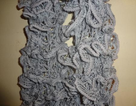 Щарфик Дантелла серый ручной работы на заказ
