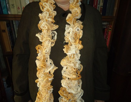 Щарфик Дантелла оттенки желтого ручной работы на заказ