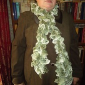 Шарфик Дантелла оттенки зеленого