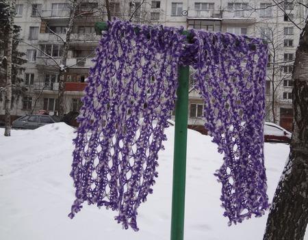 """Палантин-шарф """"Сирень"""" ручной работы на заказ"""