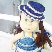 Кукла на проволочном каркасе