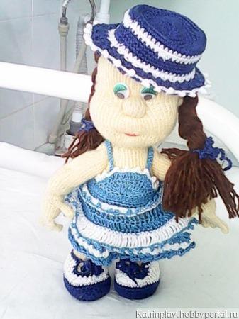 Кукла на проволочном каркасе ручной работы на заказ