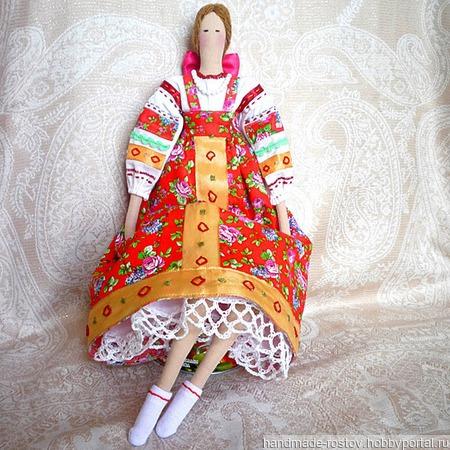 Кукла Тильда «Русская красавица» ручной работы на заказ