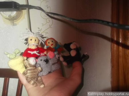 Пальчиковый кукольный театр ручной работы на заказ