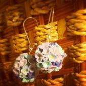 Цветочные серьги-шары