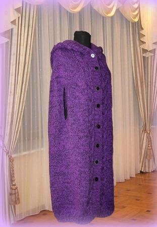 вязаное пальто пончо кейп купить в интернет магазине