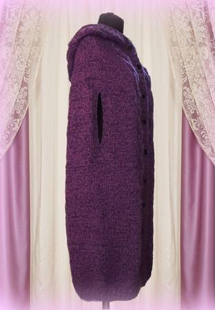 Вязаное Пальто - пончо. Кейп ручной работы на заказ
