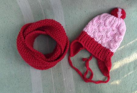 Комлект для девочки (шапочка + снуд) ручной работы на заказ