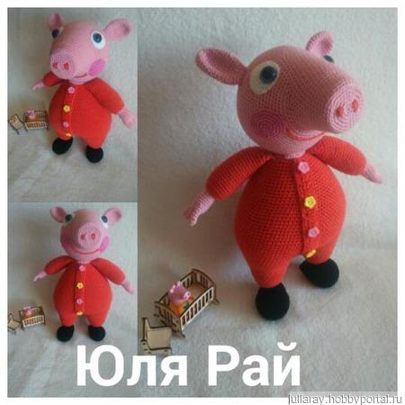 Свинка Пеппа в пижамке ручной работы на заказ