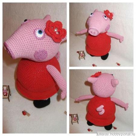 Свинка Пеппа в платье ручной работы на заказ
