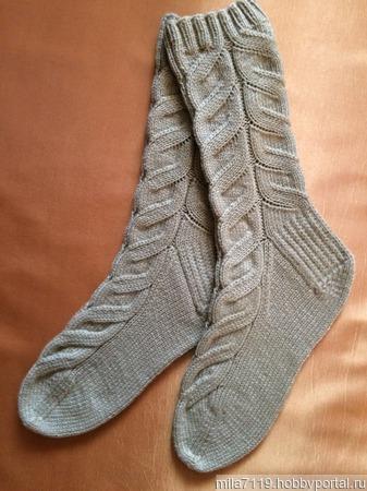 Носки со жгутами ручной работы на заказ