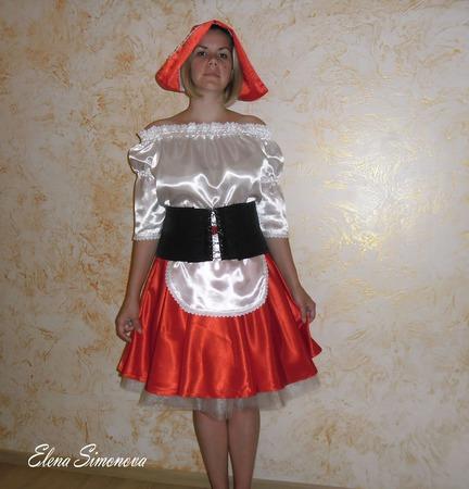 """""""Красная шапочка"""" карнавальный костюм взрослый ручной работы на заказ"""