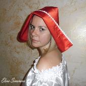 Капор красной шапочки взрослый для карнавального костюма