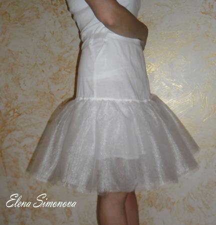 Нижняя юбка Подъюбник из х/б и тонкого фатина ручной работы на заказ