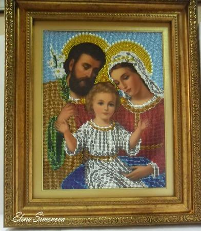 """Икона """"Святое семейство"""" ручной работы на заказ"""