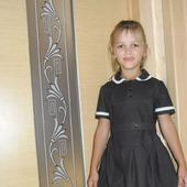 Школьная форма (платье джинсовое с коротким рукавом)