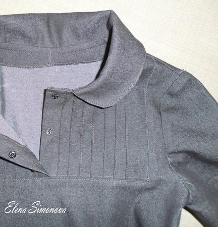 Школьная форма (платье джинсовое с коротким рукавом) ручной работы на заказ