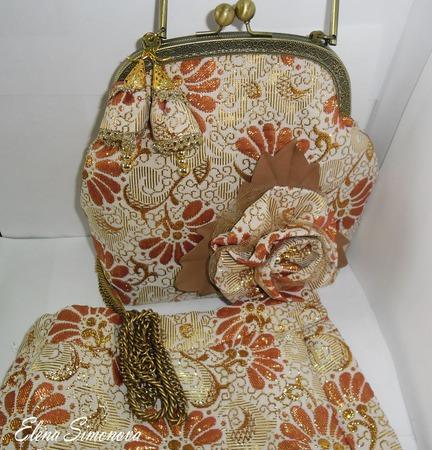 Юбка классическая миди расклешённая Золотая парча ручной работы на заказ