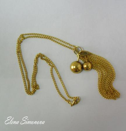 """Кулон с цепочкой """"Вишенки"""" под золото и под серебро ручной работы на заказ"""