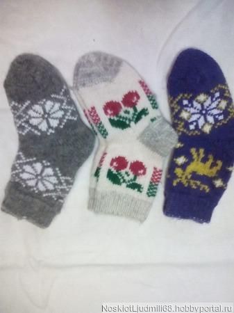 Носки детские круговые без шва ручной работы на заказ