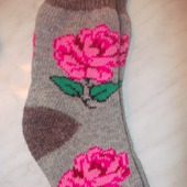 Носки вязанные из ангоры