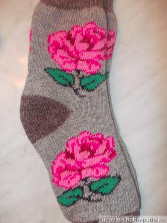 Носки вязанные из ангоры ручной работы на заказ