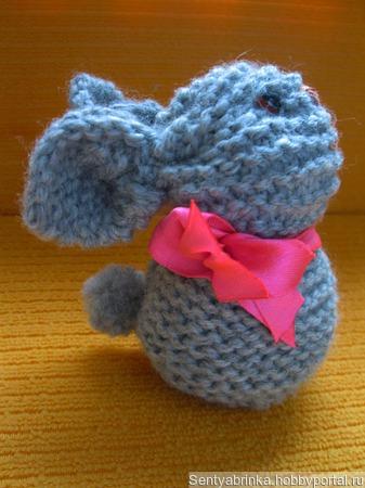 Кролик спицами ручной работы на заказ