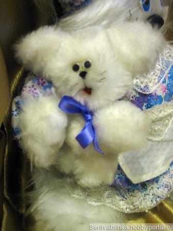 Кошечка Агата с малышом ручной работы на заказ