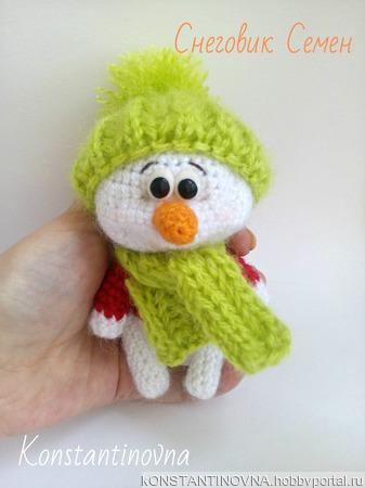 """Описание вязания """"Снеговик Семен"""" ручной работы на заказ"""