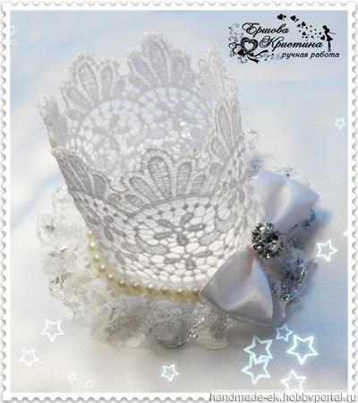 Кружевная корона ручной работы на заказ