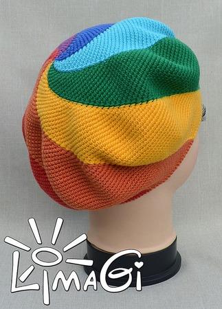 """Берет """"Радуга-дуга"""" - описание вязания ручной работы на заказ"""