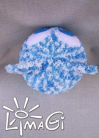 """Шапочка """"Голубоглазый котенок"""" - описание вязания ручной работы на заказ"""