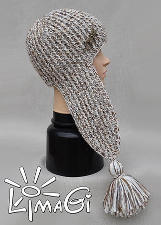 """Шапка-ушанка """"Стрекозюля"""" - описание вязания ручной работы на заказ"""