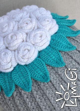 """Шапочка """"Букет невесты"""" - описание вязания ручной работы на заказ"""