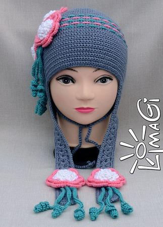 """Шапочка """"Расцвела"""" - описание вязания ручной работы на заказ"""