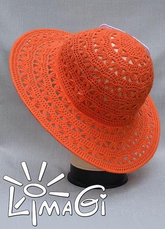 """Шляпа """"Лето апельсинового цвета"""" - описание вязания ручной работы на заказ"""