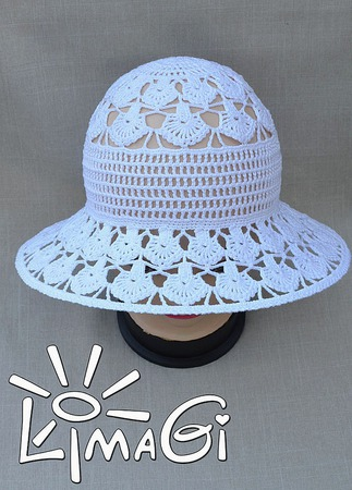 """Шляпка """"Перышки ангела"""" - описание вязания ручной работы на заказ"""