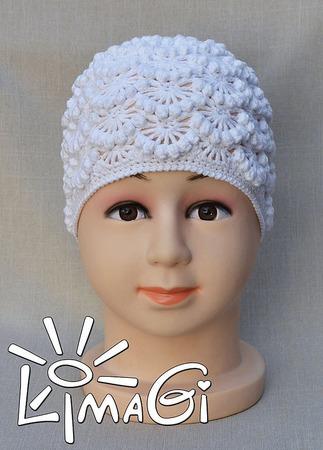 """Шапочка """"Облачно"""" - описание вязания ручной работы на заказ"""