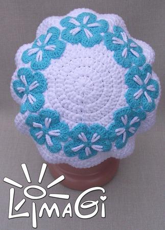 """Беретка """"Цветочный нимб"""" - описание вязания ручной работы на заказ"""