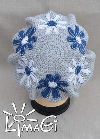 """Берет """"Кляксовые ромахи"""" - описание вязания ручной работы на заказ"""