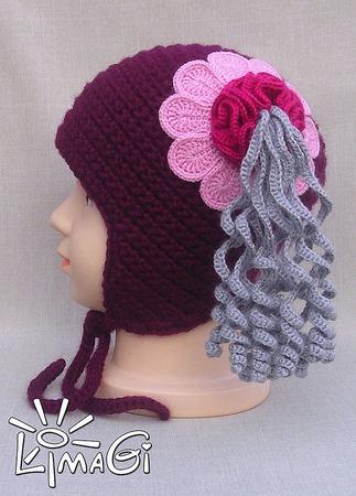 """Шапочка """"Цветы-хвосты"""" - описание вязания ручной работы на заказ"""