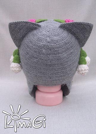 """Шапочка """"Сережки для кошки"""" - описание вязания ручной работы на заказ"""