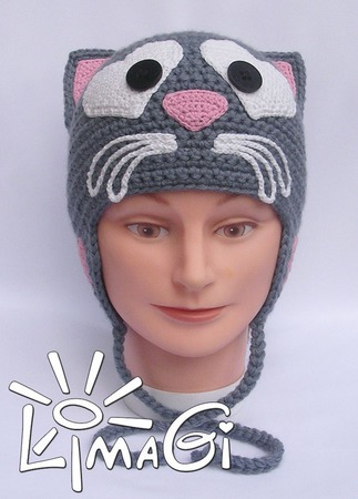 """Шапочка """"МачоКот"""" - описание вязания ручной работы на заказ"""