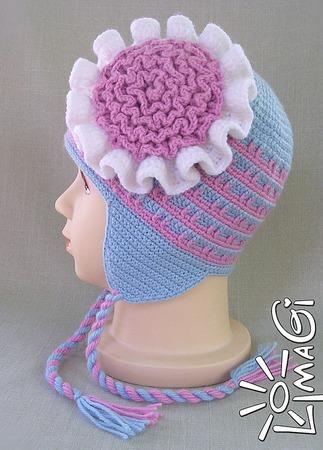 """Шапочка """"Рюшевый цветок"""" - описание вязания ручной работы на заказ"""